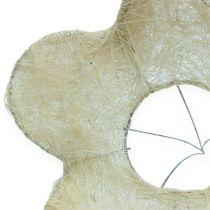Sisal cuff bleached Ø25cm 6pcs