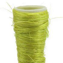 Sisal funnel light green Ø3cm L30cm 12pcs