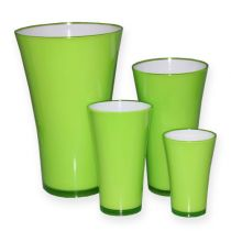 "Plastic vase ""Fizzy"" apple green, 1pce"