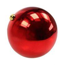 Christmas ball medium plastic red 20cm