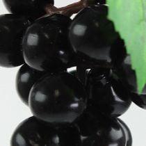 Artificial mini grapes black 9cm