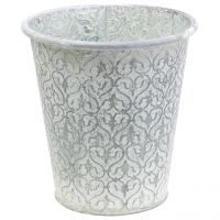 Zinktopf with decor cream washed Ø24cm H23,5cm