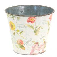 Plant pot with flower design Ø13cm H10,5cm
