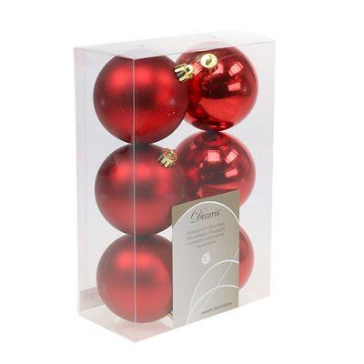 Plastik Christbaumkugeln.Christmas Tree Balls Plastic Red 8cm 6pcs Buy Online
