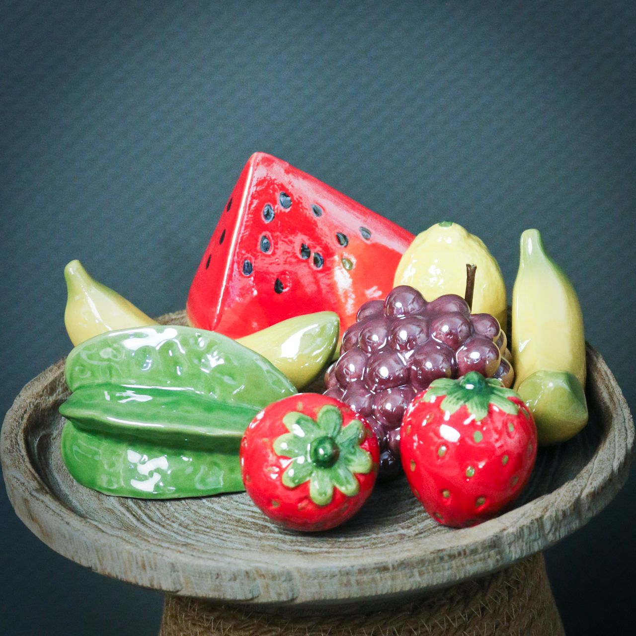 Melon piece ceramic 12cm 3pcs