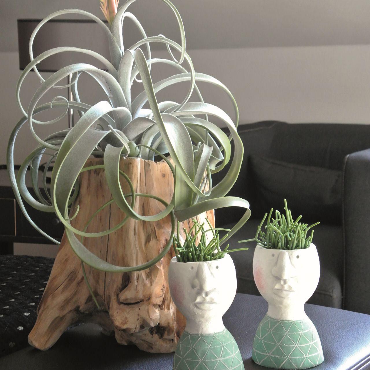 Decorative pot root gray 33cm x 29cm H30cm