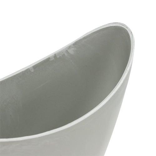 Decorative Plastic Bowl  Gray 20cm x 9cm H11,5cm, 1pc
