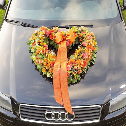 Floral foam heart open floral green 38cm 2pcs wedding decoration