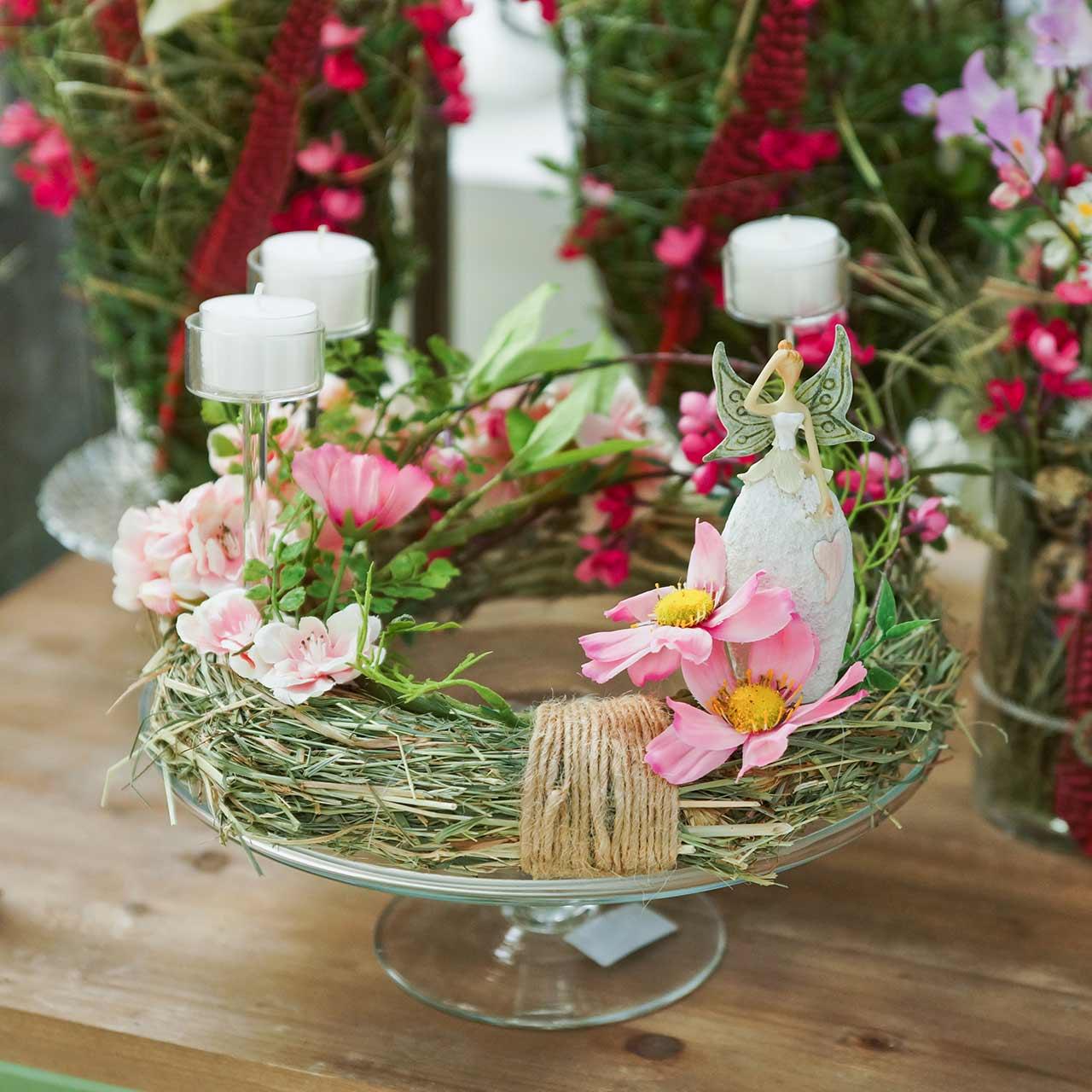 Hay wreaths 25cm 5pcs