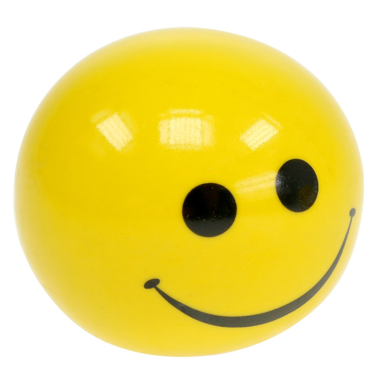 Ceramic ball with Smeili yellow Ø5cm H4.5cm 6pcs