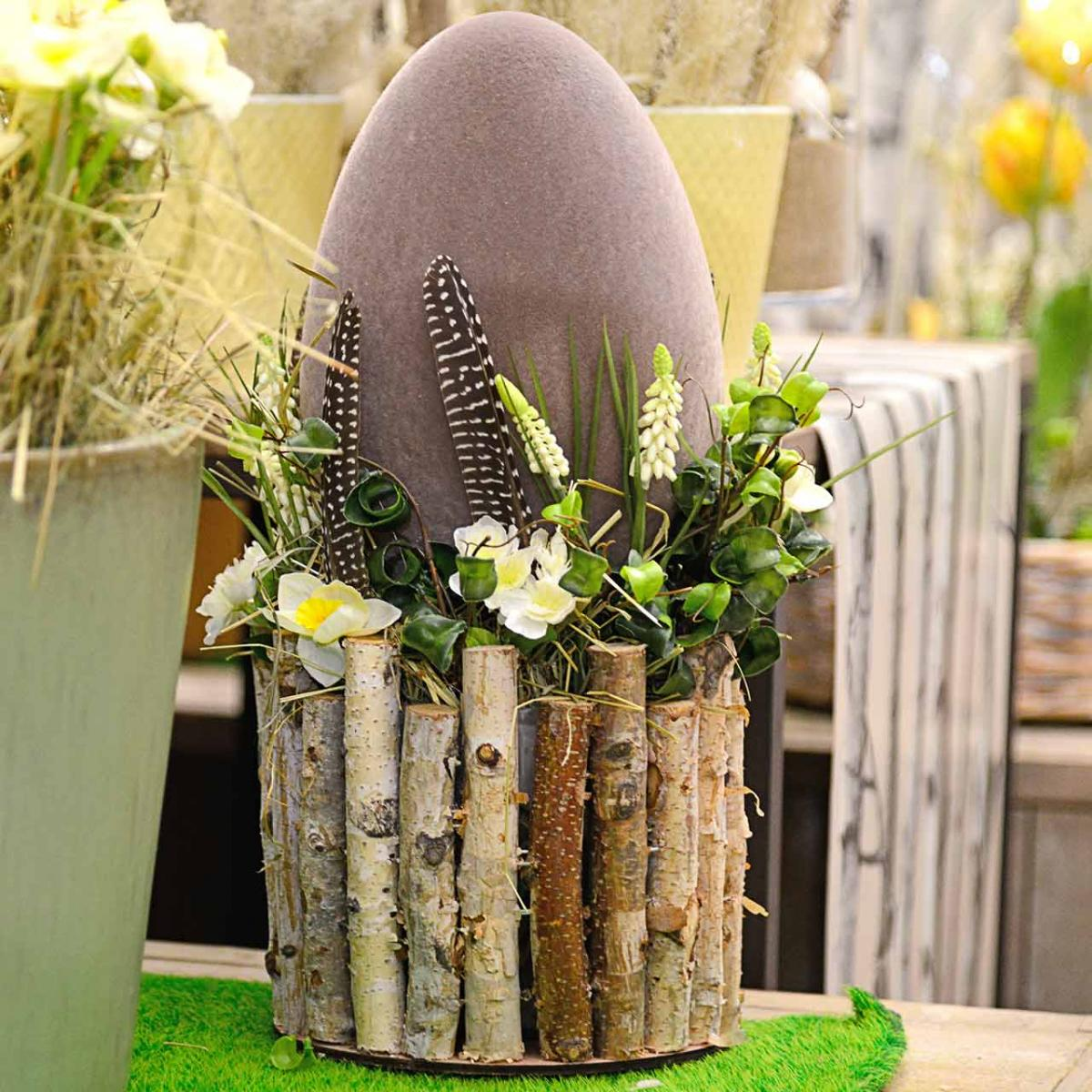 Easter egg flocked H25cm colored eggs Easter decoration