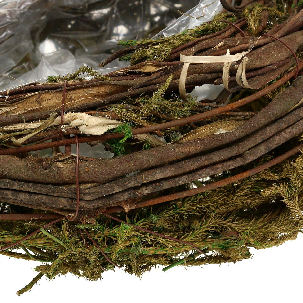 Planter made of vines and moss 35cm x 20cm