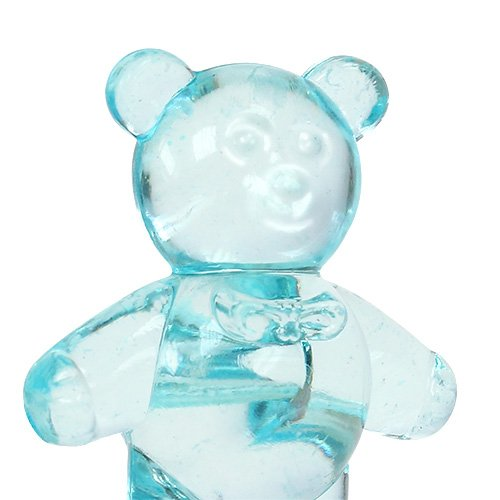 Table decoration for the birth bear blue 3.5cm 60pcs