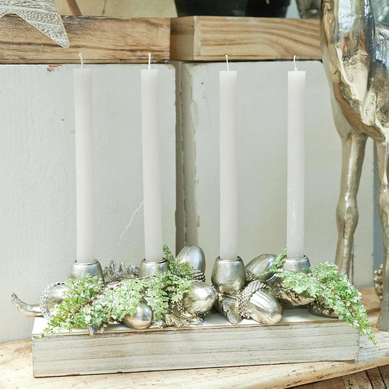 Christmas decoration candlestick for 4 candles acorns 44cm