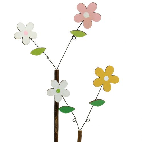 Deco-cut wood flower H44cm 6pcs