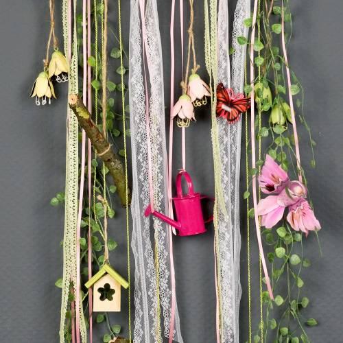 Hanger decorative wood 5,5cm x 4cm x 6cm 6pcs