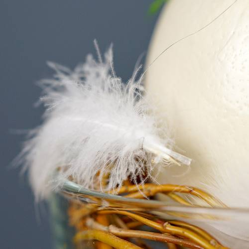 Feather on wire White 10m