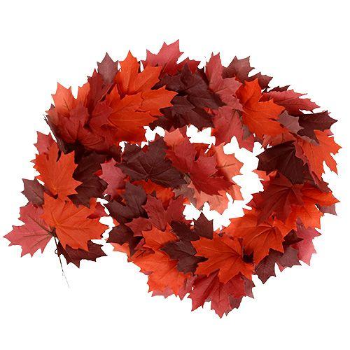 Maple garland red-orange 170cm