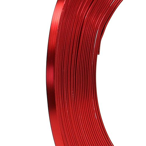 Aluminum flat wire red 5mm 10m