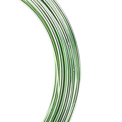 Aluminum wire 2mm 100g mint green