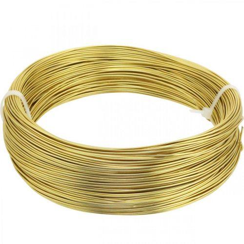 Aluminum wire Ø1mm gold decoration wire round 120g