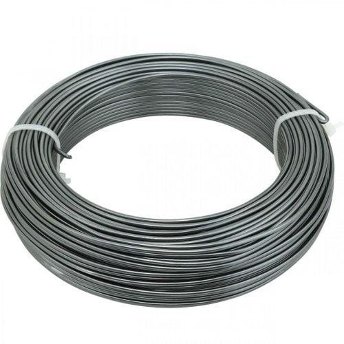 Aluminum wire Ø2mm anthracite decorative wire round 480g