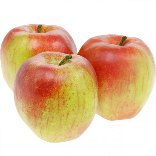Artificial apple, decorative fruit Ø8cm 4pcs