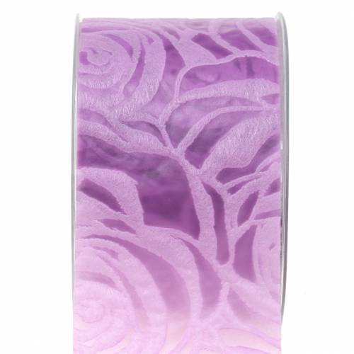 Gift ribbon for decoration roses large Purple 63mm 20m