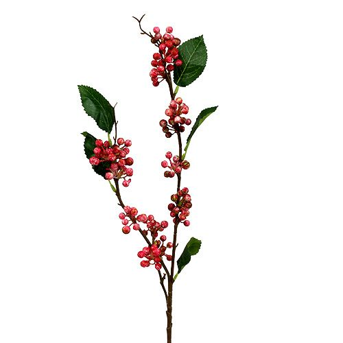 Berry branch artificially red-white 64cm 6pcs