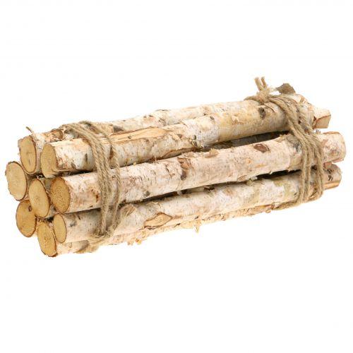 Birch branches bundled natural 30cm 8pcs