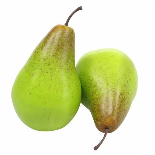 Food dummy pear 10.5cm green 6pcs