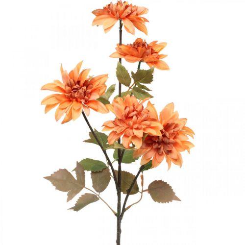 Decorative flower dahlia, autumn decoration, silk flower orange 55cm Ø9 / 11cm