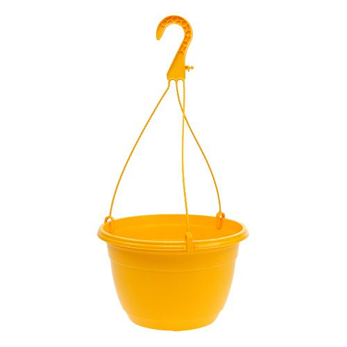 Flower basket 25cm yellow