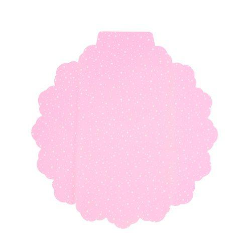 Flower cuff Ø38cm pink 50pcs