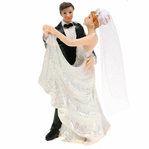 Wedding decoration bride and groom hand-painted H13cm, set of 2
