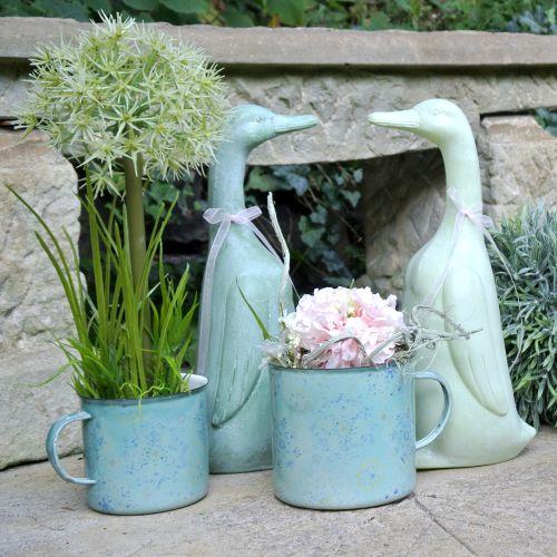 cup plant pot Mandala enamelled Ø11cm H10cm