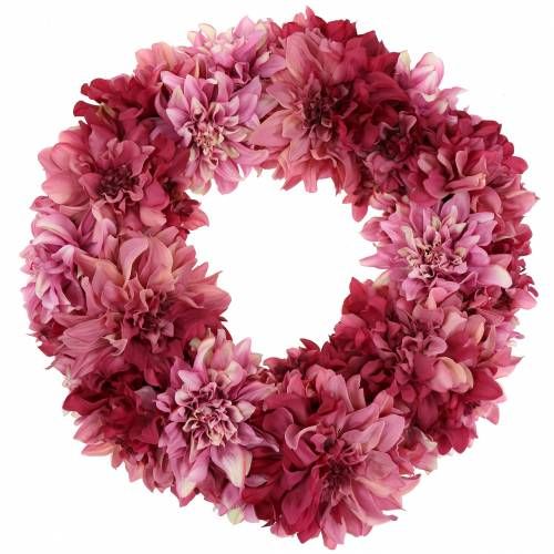 Dahlia flower wreath pink, mallow Ø42cm