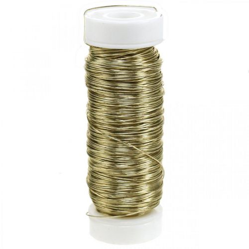 Decorative enameled wire Ø0.30mm 30g / 50m gold