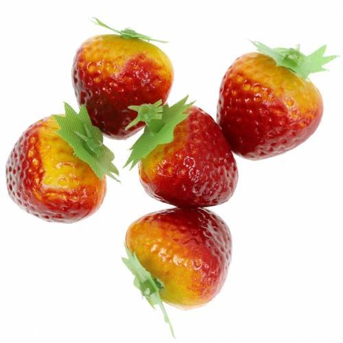 Decorative strawberries 2,5cm 12pcs