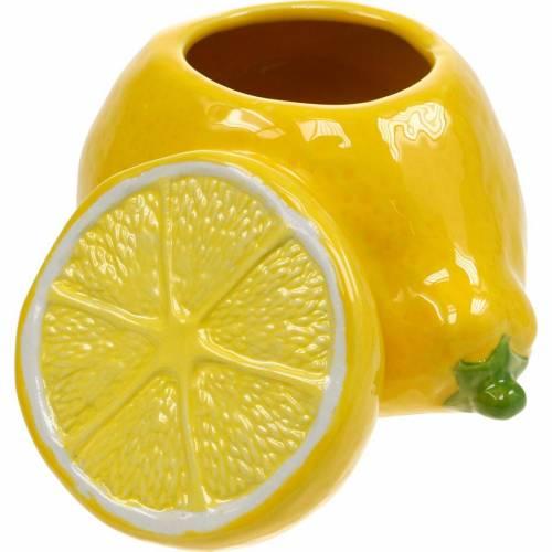 Decorative pot lemon vase citrus fruit ceramic summer decoration