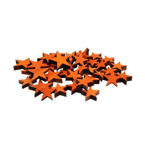 Wooden stars mix Orange for spreading 3-5cm 72pcs