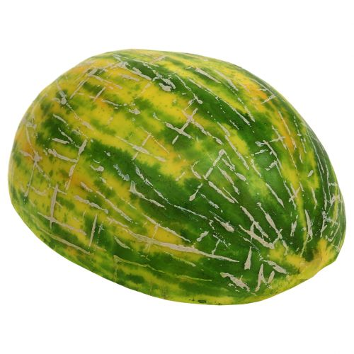 Decorative honeydew melon halved orange, green 13cm