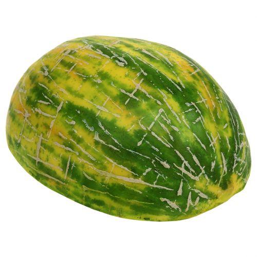 Deco honey melon halved orange, green 13cm