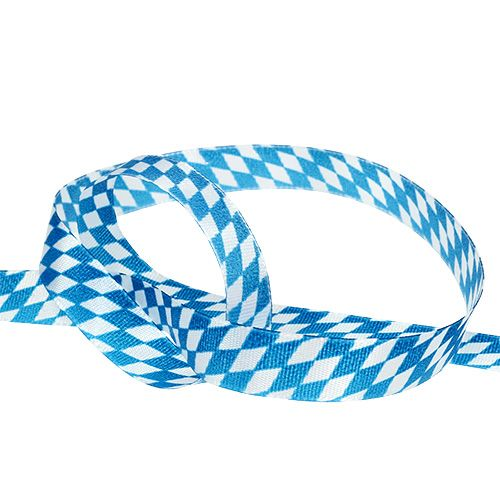 Deco ribbon blue-white 15mm 20m
