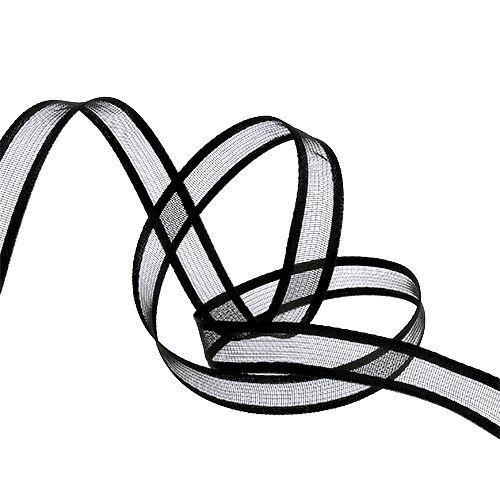 Gift ribbon for decoration Black 15cm 25m