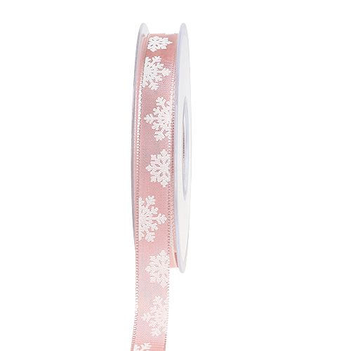 Gift ribbon for decoration with wire edge Rosa 15mm 20m