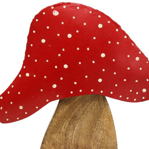 Decoration figure toadstool nature, red 25cm
