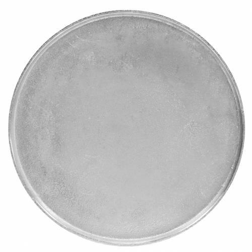 Decorative plate clay Ø31cm silver