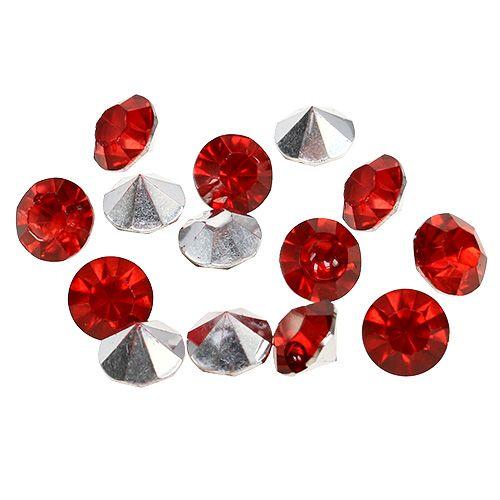 Diamonds Acrylic 8mm Red 50g