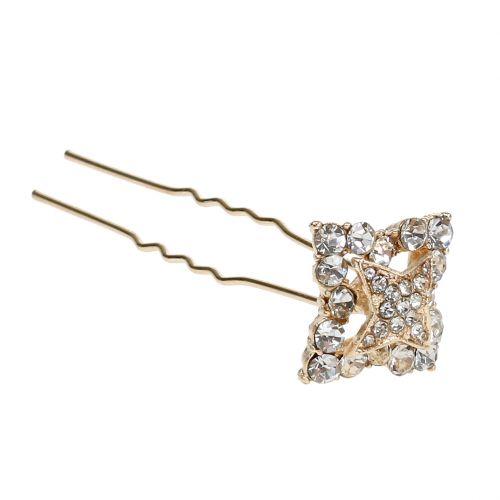 Diamond Needle Wedding Decoration Gold 7cm 9pcs